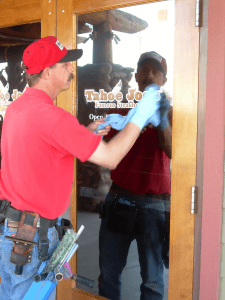Store front Window Cleaning by Masters