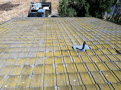 Before Roof Cleaning in Sacramento, CA