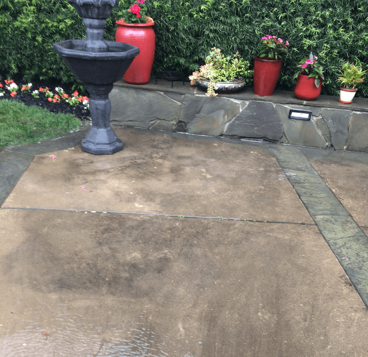Before Pressure Cleaning in El Dorado Hills, CA